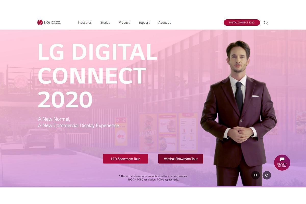 lg dc 2020 adntrate en el showroom virtual para descubrir sus pantallas profesionales