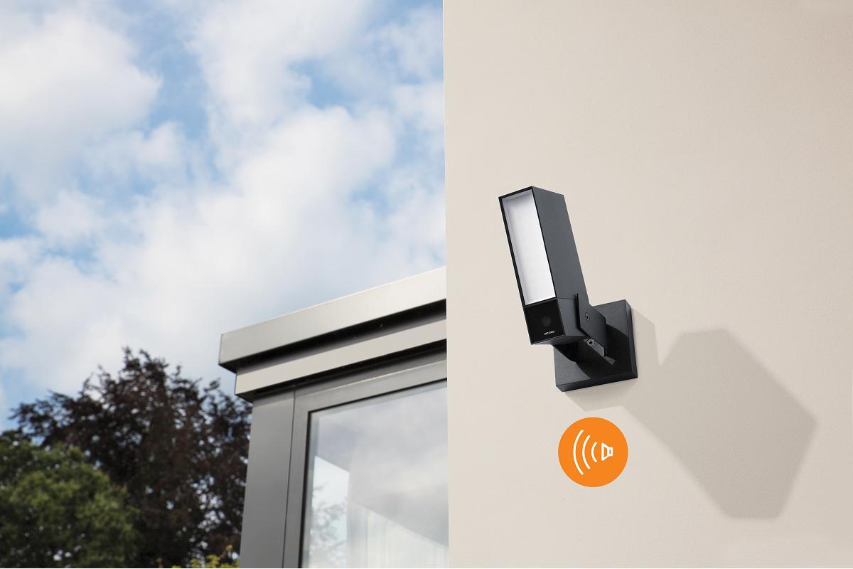 cmara exterior inteligente con sirena de netatmo vigilancia anti okupas