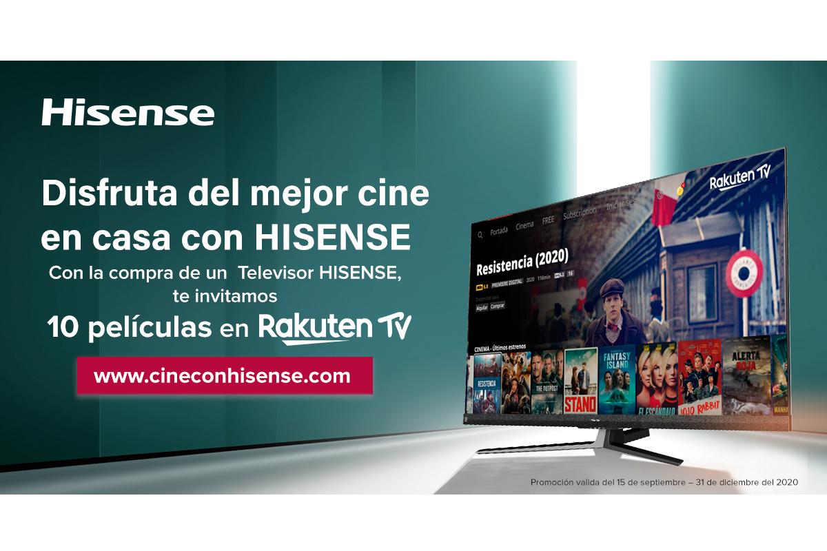 hisense te invita a disfrutar del cine sin salir de casa con rakuten tv