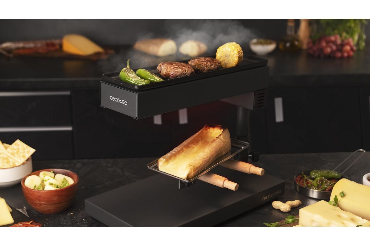el queso ya no sabr igual con la raclette cheeseampgrill 6000 black de cecotec