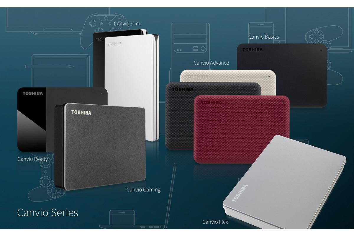 toshiba aade a su gama canvio de almacenamiento porttil los discos duros flex y gaming