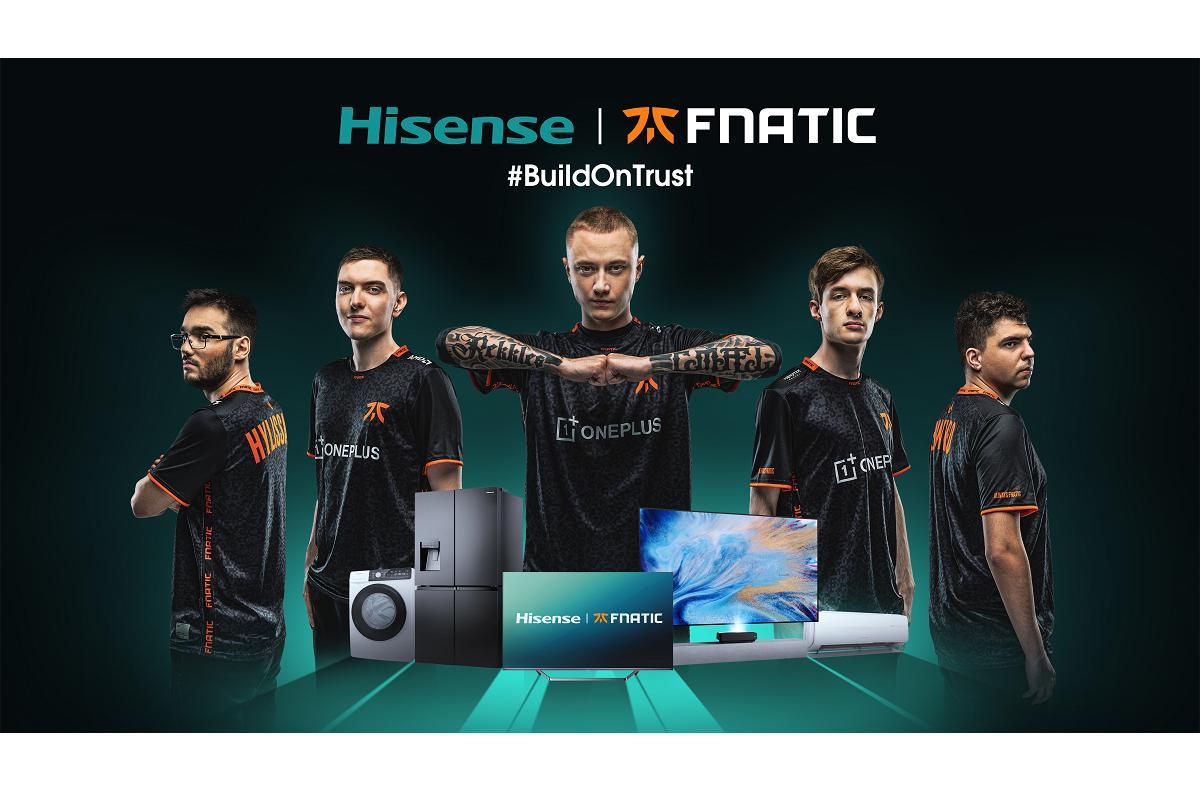 hisense ya es parte del universo gaming y esports con el patrocinio de fnatic
