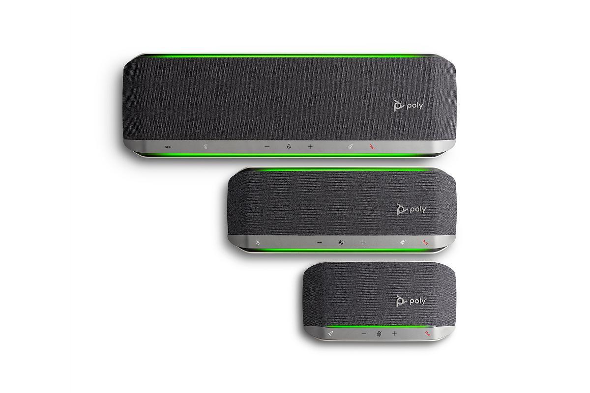 poly sync altavoces inteligentes con calidad sonora para el trabajo flexible