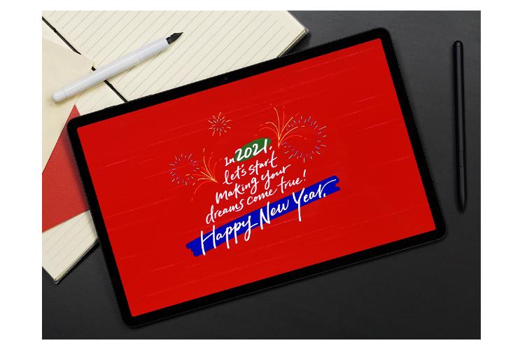 felicitaciones originales y creativas con caligrafa digital en el galaxy tab s7