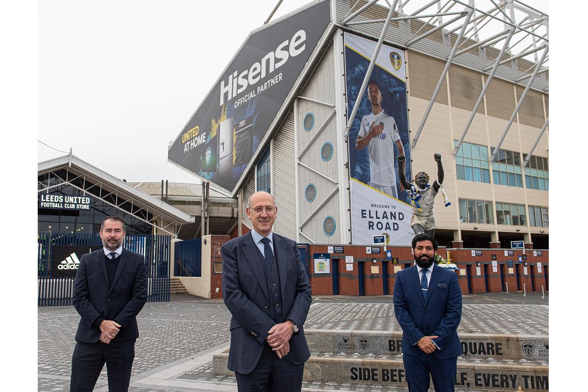 hisense patrocinador oficial del leeds united football club