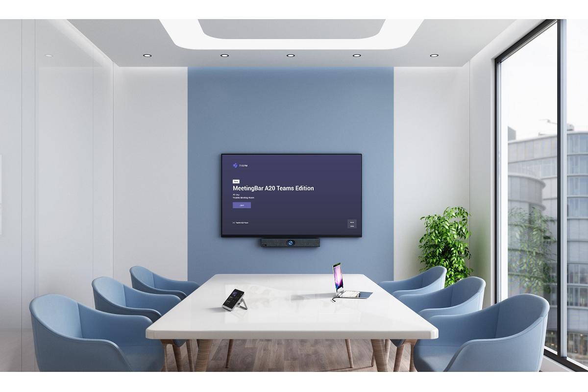 yealink meetingbar a20 de spc la barra de videoconferencia certificada con microsoft teams