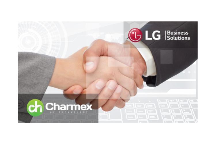 lg y charmex se alan para distribuir soluciones audiovisuales