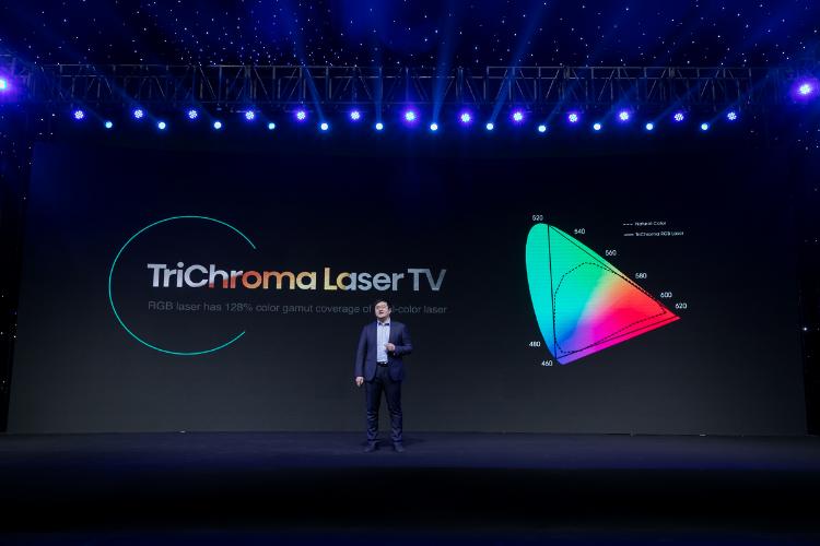hisense avanza en la experiencia inmersiva con trichroma laser tv