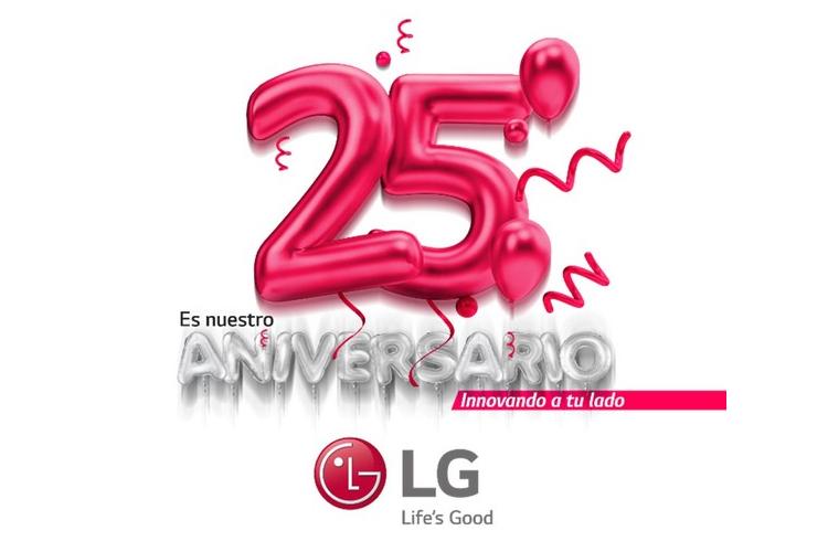lg celebra su 25 aniversario en espaa con una promocin