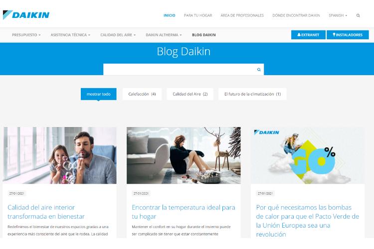 daikin lanza un blog para acercar la climatizacin al usuario