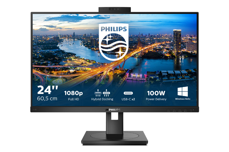 philips 243b1jh un monitor con conexin usb hbrida y webcam segura