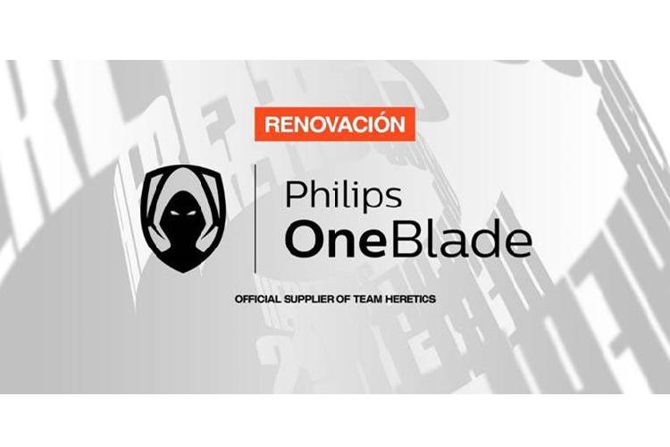 philips oneblade extiende su acuerdo de colaboracin con team heretics