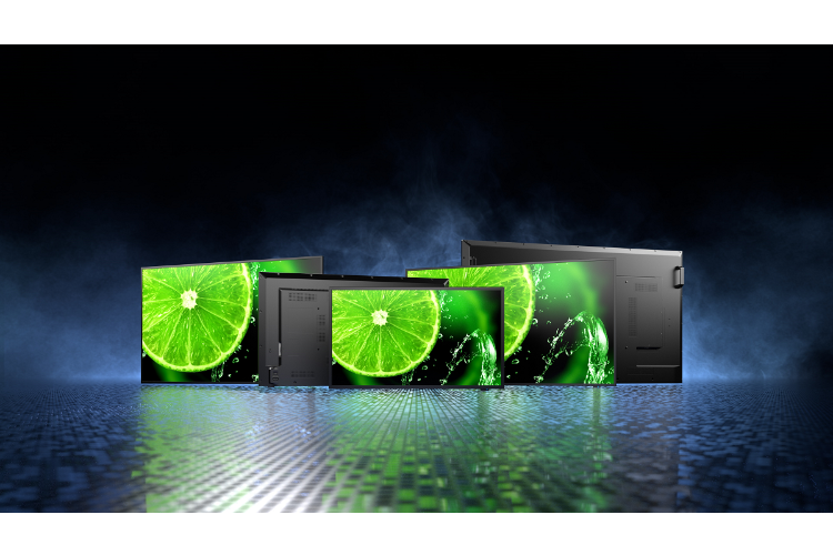 sharp  nec presenta nuevas pantallas de gran formato serie e para sealizacin