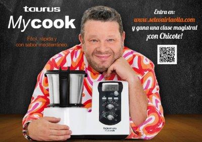 alberto chicote imagen del robot de cocina mycook de taurus