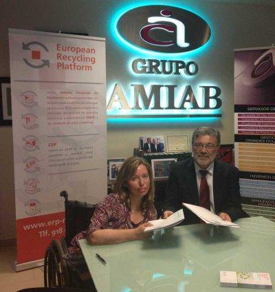 erp y amiab firman un acuerdo de colaboracin a favor del reciclado
