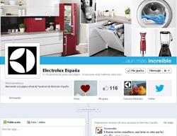 electrolux abre su perfil espaol en facebook