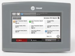 el controlador tracer uc600 de trane ofrece una pantalla tctil a color