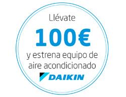 hasta 100 euros de descuento en la compra de un equipo de aire acondicionado daikin