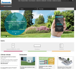 nueva web de panasonic dedicada a los productos de calefaccin y climatizacin