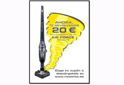 rowenta te devuelve 20 euros en la compra de tu air force