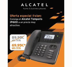oferta especial de alcatel en su temporis ip600