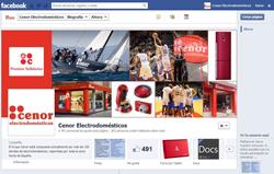 el grupo cenor electrodomsticos abre su perfil en facebook