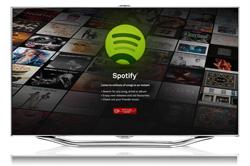 la msica de spotify llega a los televisores samsung