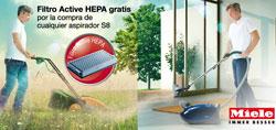 miele regala un filtro active hepa con la compra de un aspirador s8