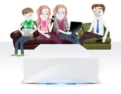lacie presenta acceso a archivos y uso compartido para familias