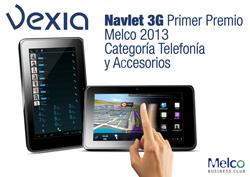 navlet 3g de vexia obtiene el primer premio en telefona y accesorios en melco 2013