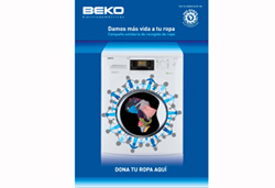 beko instala una lavadora gigante en madrid para un proyecto solidario