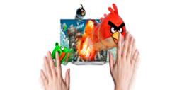 primicia de angry birds en samsung smart tv