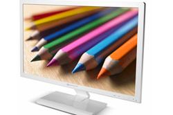 packard bell presenta su nuevo monitor led maestro 240 en color blanco