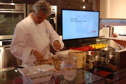 aeg y mhk colaboraron en el show cooking de casa decor