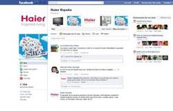 haier espaa lanza su pgina en facebook