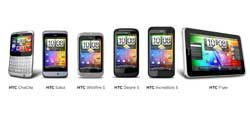 htc muestra una tableta de 7 pulgadas y dos smartphones con tecla directa a facebook