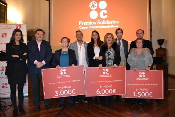 aspanaes asdegal y anaral protagonistas de los iv premios solidarios cenor electrodomeacutesticos