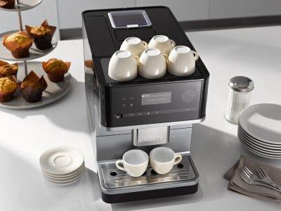 las cafeteras de la generacin 6000 de miele preparan caf por partida doble