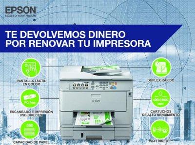 campaa de epson para renovar el equipo de impresoras