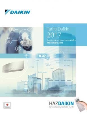 daikin presenta su nueva tarifa de precios 2017