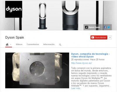 dyson llega a youtube