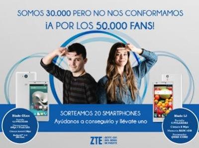zte espaa regala 20 smartphones entre sus fans