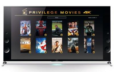 una gran coleccin de pelculas 4k para los clientes de tv hd ultra 4k de sony