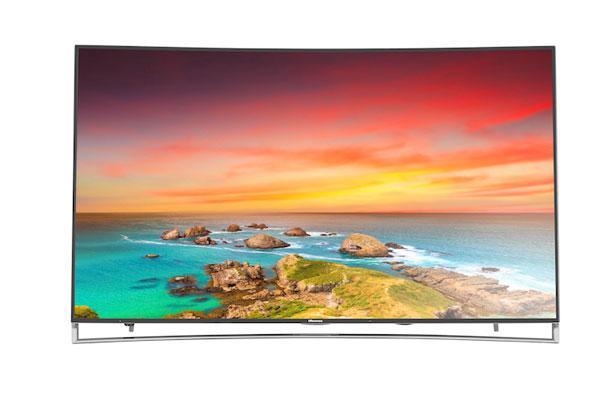 hisense lanza el televisor inteligente curvado de 65 pulgadas 4k uled h10 series