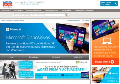 ingram micro presenta un espacio exclusivo de microsoft dispositivos en su web