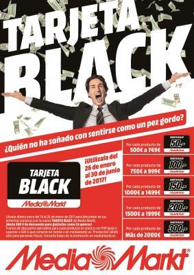 media markt premia con tarjetas black de hasta 300 euros