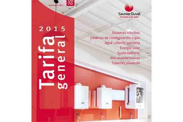 nueva tarifa saunier duval 2015