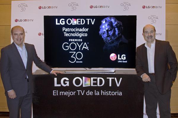 lg oled tv patrocinador tecnoloacutegico de los premios goya