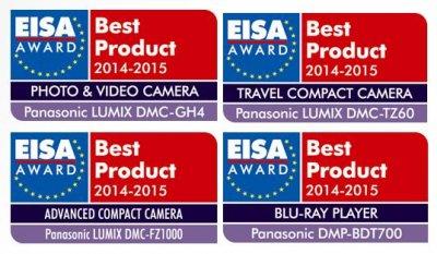 panasonic triunfa en los premios eisa 2014 con cuatro galardones por su innovacin en imagen digital