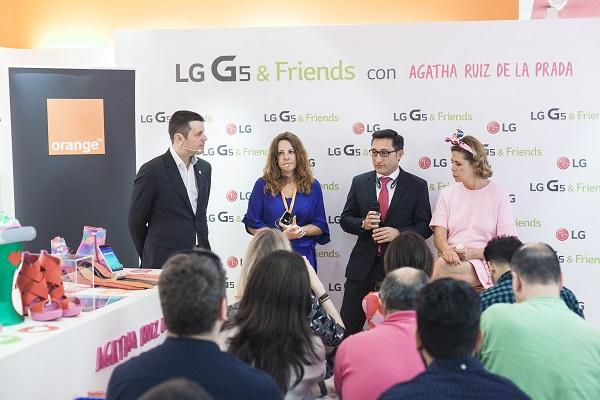 lg presenta lg g5 amp friends en rosa con aacutegatha ruiz de la prada